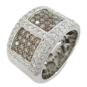 ジュエリー ダイヤモンド リング 指輪 K18WG(ホワイトゴールド) x ダイヤモンド/刻印なし  ランクA 16号|brandoff