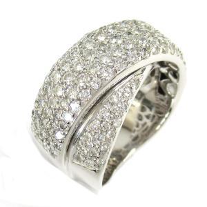 ジュエリー ダイヤモンド リング 指輪 K18WG(ホワイトゴールド) x ダイヤモンド1.90ct  ランクA 13.5号|brandoff