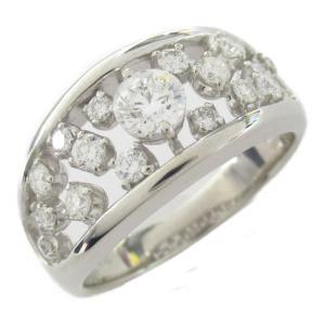 ジュエリー ダイヤモンド リング 指輪 PT900 プラチナ x ダイヤモンド0.313/0.44ct ダイヤ 8.4g ランクA 13号|brandoff