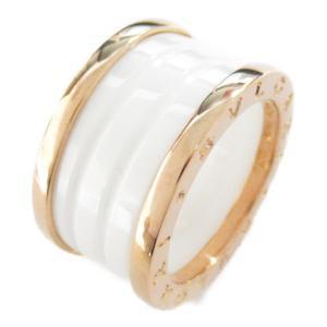 ブルガリ B-zero1 ビーゼロワン リング Mサイズ 指輪 K18PG(750) ピンクゴールド x ホワイトセラミック 345830 ランクA|brandoff