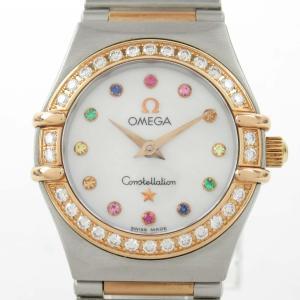 オメガ コンステレーション ミニ アイリス 12Pダイヤ ウォッチ 腕時計 ゴールド 18Kピンクゴールド x ステンレススチール(SS) ランクA|brandoff