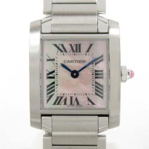 カルティエ タンクフランセーズSM ウォッチ 腕時計 シルバー ステンレススチール(SS) W51028Q3 ランクA|brandoff