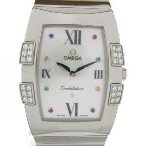 オメガ コンステレーション クアドラダイヤベゼル ウォッチ 腕時計 シルバー ステンレススチール(SS) x ダイヤモンド 1586.79 ランクA|brandoff