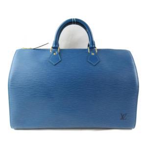 ルイヴィトン スピーディ35 ハンドバッグ ボストンバッグ ブルー エピ M42995 ランクB|brandoff