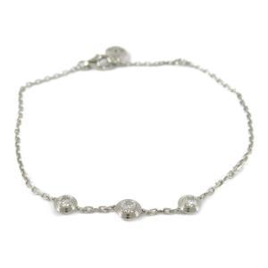 カルティエ ディアマンレジェ ダイヤモンド ブレスレット K18WG(750) ホワイトゴールド x ダイヤモンド  ランクA|brandoff