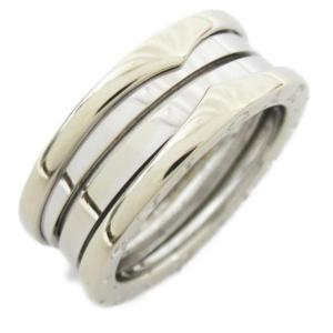 ブルガリ B-zero1リング ビーゼロワン Sサイズ 指輪  K18WG(750) ホワイトゴールド  ランクA #56/15.5号|brandoff
