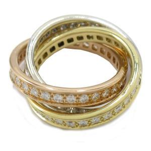 カルティエ トリニティリング フルダイヤモンド 指輪  ランクA #49/9号|brandoff