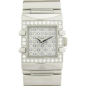 オメガ コンステレーション クアドラ ベゼル/文字盤ダイヤ ウォッチ 腕時計 シルバー ステンレススチール(SS)xダイヤモンド 1539.77|brandoff