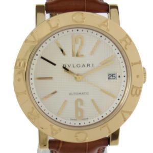 ブルガリ ブルガリ ブルガリ ウォッチ 腕時計 ゴールド K18YG(750)イエローゴールド x クロコレザーベルト BB38GL AUTO|brandoff