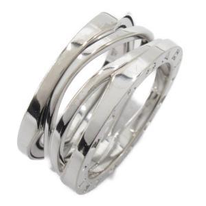 ブルガリ B-zero1 ビーゼロワン デザインレジェンドリング 指輪 K18WG(750) ホワイトゴールド  ランクA #54/13.5号|brandoff
