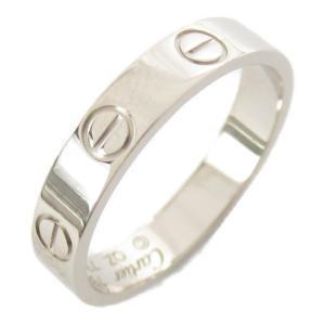 カルティエ ミニラブリング 指輪 シルバー K18WG(750) ホワイトゴールド  ランクA #51/11号|brandoff