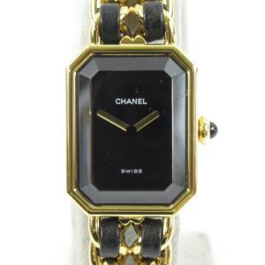 シャネル プルミエールM ウォッチ 腕時計 ゴールド レザーベルトxGP H0001 ランクA|brandoff