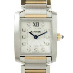 カルティエ タンクフランセーズ SM 11Pダイヤモンド 腕時計 ウォッチ シルバーxピンクゴールド WE110004 ランクA|brandoff