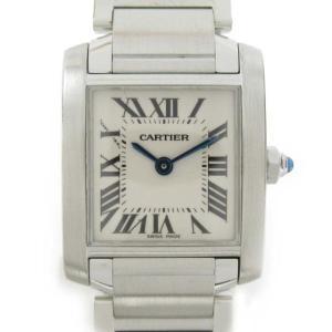 カルティエ タンクフランセーズSM ウォッチ 腕時計 シルバー ステンレススチール(SS) W51008Q3 ランクA|brandoff