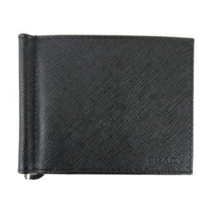 プラダ SLG サフィアーノ マネークリップ カード ケース ケース ブラック サフィアーノレザー 2MN077053F0002 新品|brandoff