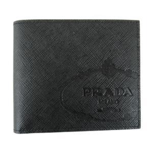 プラダ SLG サフィアーノ 二つ折り財布 札入れ 財布 ブラック サフィアーノレザー 2MO5132MB8F0002 新品|brandoff