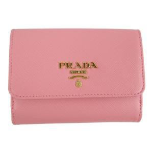 プラダ サフィアーノ Wホック財布 財布 ピンク サフィアーノレザー 1MH523 ランクA|brandoff