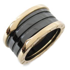 ブルガリ B-zero1 ビーゼロワン リング 指輪 K18PG(750) ピンクゴールド x ブラックセラミック  ランクA #60/19.5号|brandoff