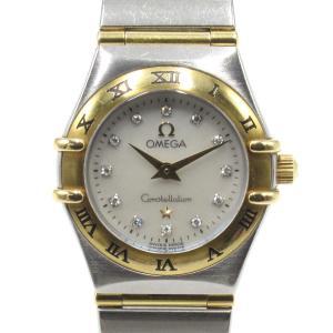 オメガ コンステレーション ミニ ウォッチ 腕時計 シルバー 18Kイエローゴールド x ステンレススチール(SS) x ダイヤモンド 1262.75|brandoff