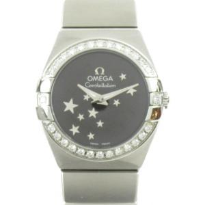 オメガ コンステレーション ブラッシュ ダイヤモンドベゼル 腕時計 ウォッチ シルバー ステンレススチール(SS)xダイヤモンド ランクA|brandoff