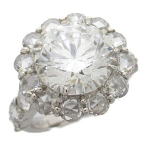 ジュエリー ダイヤモンド リング 指輪 PT900 プラチナ x ダイヤモンド5.016/2.04CT  ランクA 13号|brandoff