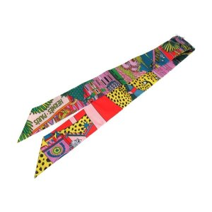 エルメス トゥイリースカーフ ツイリースカーフ パープル プルー グリーン シルク 新品|brandoff