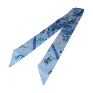 エルメス トゥイリースカーフ ツイリースカーフ ブルー マルチカラー シルク 新品|brandoff