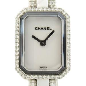 シャネル プルミエール ウォッチ 腕時計 ホワイト セラミック x ダイヤモンド H2146 ランクA|brandoff