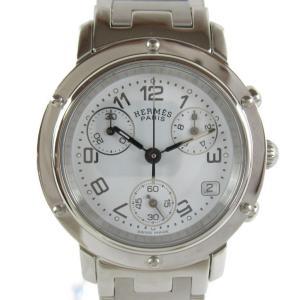 エルメス クリッパークロノ ウォッチ 腕時計 シルバー ステンレススチール(SS) CL1.310 ランクB|brandoff