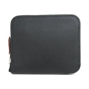 エルメス アザップシルクイン・コンパクト 財布 長財布 ブラック ヴォーエプソン x シルク  未使用品 brandoff