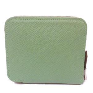 エルメス アザップシルクインコンパクト 財布 財布 ヴェールクリケット  シルク x ヴォーエプソン  未使用品 brandoff