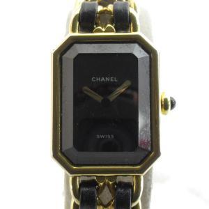 シャネル プルミエールL ウォッチ 腕時計 ゴールド レザーベルトxGP H0001 ランクB|brandoff