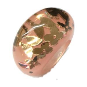 ルイヴィトン バーグアンクルージョンリング 指輪 ピンク x ゴールド プラスチック  ランクB #13|brandoff