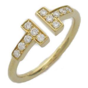 ティファニー Tワイヤー ダイヤモンド リング 指輪 K18YG(750) イエローゴールド x ダイヤモンド  ランクA 6.5号|brandoff