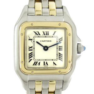 カルティエ パンテールSM ウォッチ 腕時計 シルバーxゴールド ステンレススチール(SS)xK18YGイエローゴールド W25029B6 ランクB|brandoff