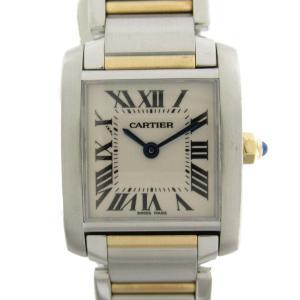 カルティエ タンクフランセーズSM ウォッチ 腕時計 シルバー K18YG(750)イエローゴールド x ステンレススチール W51007Q4|brandoff