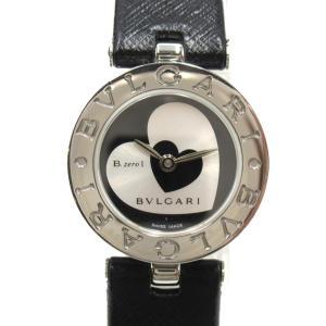 ブルガリ B-zero1 ビーゼロワン 腕時計 ウォッチ シルバー ステンレススチール(SS)xレザーベルト BZ22S ランクA|brandoff