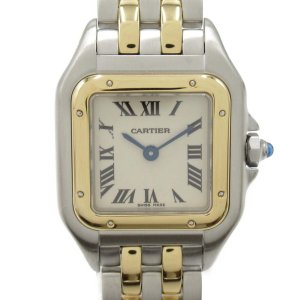 カルティエ パンテールSM ウォッチ 腕時計 シルバー K18YG(750)イエローゴールド x ステンレススチール(SS) W25029B6|brandoff