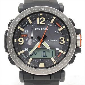 カシオ プロトレック 腕時計 ウォッチ メンズ ブラック ステンレススチール SSx樹脂xラバーベル...