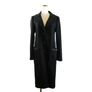 グッチ ロングコート ブラック ウール  ランクA|brandoff