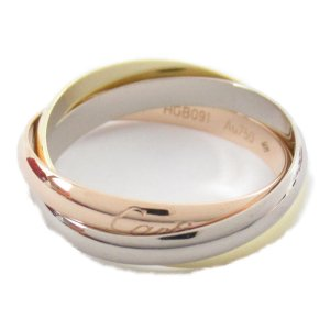 カルティエ トリニティリング 指輪 K18YG(750) イエローゴールドx K18WG ホワイトゴールド x K18PG ピンクゴールド  ランクA|brandoff