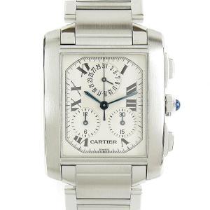 カルティエ タンクフランセーズクロノリフレックス 腕時計 ウォッチ シルバー ステンレススチール(SS) W51001Q3 ランクA|brandoff