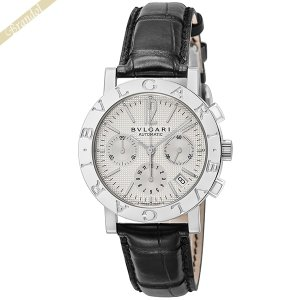 ブルガリ BVLGARI メンズ腕時計 ブルガリブルガリ クロノグラフ 38mm 自動巻き ホワイト...