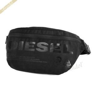 〈クーポン配布中〉ディーゼル DIESEL メンズ ボディバッグ F-SUSE ベルトバッグ ブラック×イエロー X06090 P2249 H5067|brandol-s