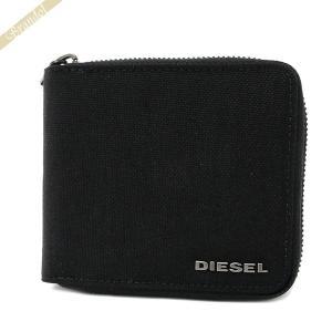 〈クーポン配布中〉ディーゼル DIESEL メンズ 二つ折り財布 METROPOLY ブラック X06129 P2292 H6103|brandol-s