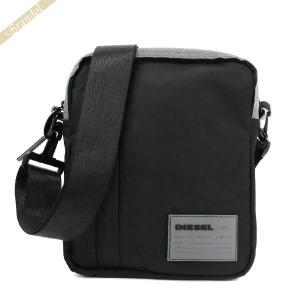 〈クーポン配布中〉ディーゼル DIESEL メンズ ショルダーバッグ 縦型 ブラック×グレー X06266 PR230 T8013|brandol-s