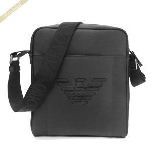 〈クーポン配布中〉エンポリオアルマーニ EMPORIO ARMANI メンズ ショルダーバッグ イーグルロゴ 縦型 ブラック Y4M155 YFE6J 81072|brandol-s