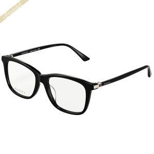 グッチ GUCCI メンズ メガネフレーム ウェリントン型 セルフレーム ブラック GG0018OA-001 brandol-s