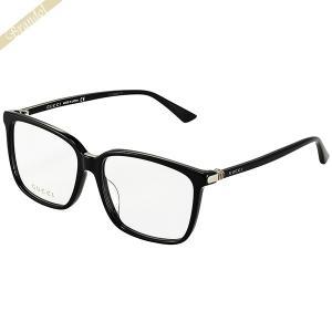 グッチ GUCCI メンズ メガネフレーム スクエア型 セルフレーム ブラック GG0019OA-001 brandol-s