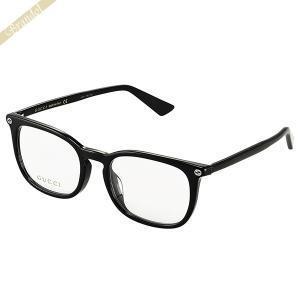 グッチ GUCCI メンズ メガネフレーム ウェリントン型 セルフレーム ブラック GG0122OA-001 brandol-s